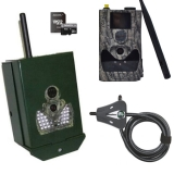Sada Scout Guard SG-880 MMS/GPRS-18Mpx Black 940nM fotopast + box + zámek + SD