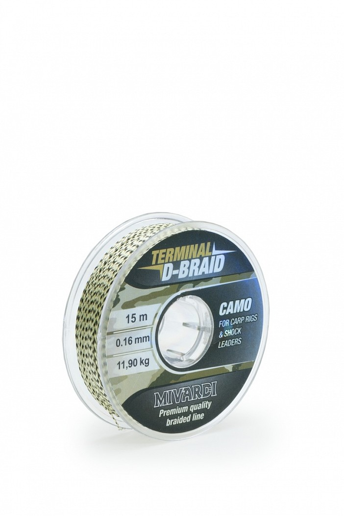 MIVARDI Terminal D-Braid Camo 0,16mm, 15m