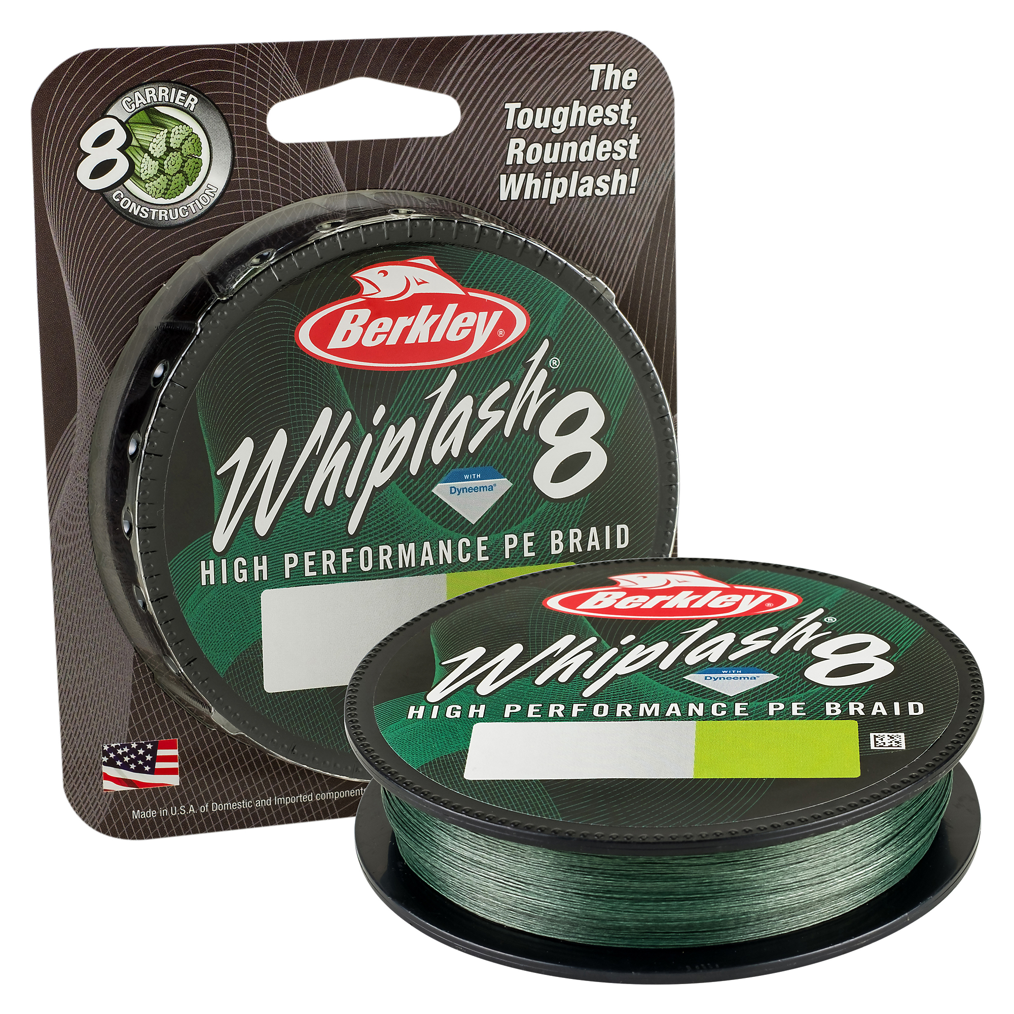 Berkley Whiplash 8 Green 0,20mm, 300m