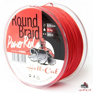 Hell-Cat Round Braid Power Red 0,70mm, 85kg, 200m