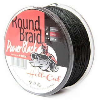 Hell-Cat Round Braid Power Black 0,60mm, 75kg, 200m
