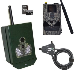Sada Scout Guard SG-880 MMS/GPRS-18Mpx Black 940nM + box + zámek + SD karta